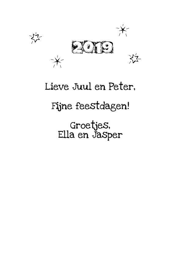 Cirkel tekst feestdagen 2019 3