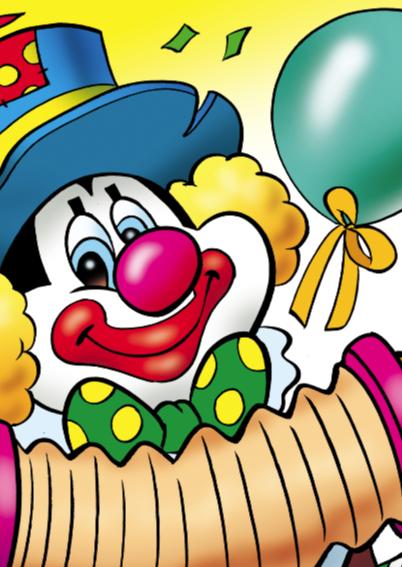 clowns verjaardag 1 clown twee ballonnen 2