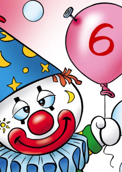 clowns verjaardag 10 clown met trom 2