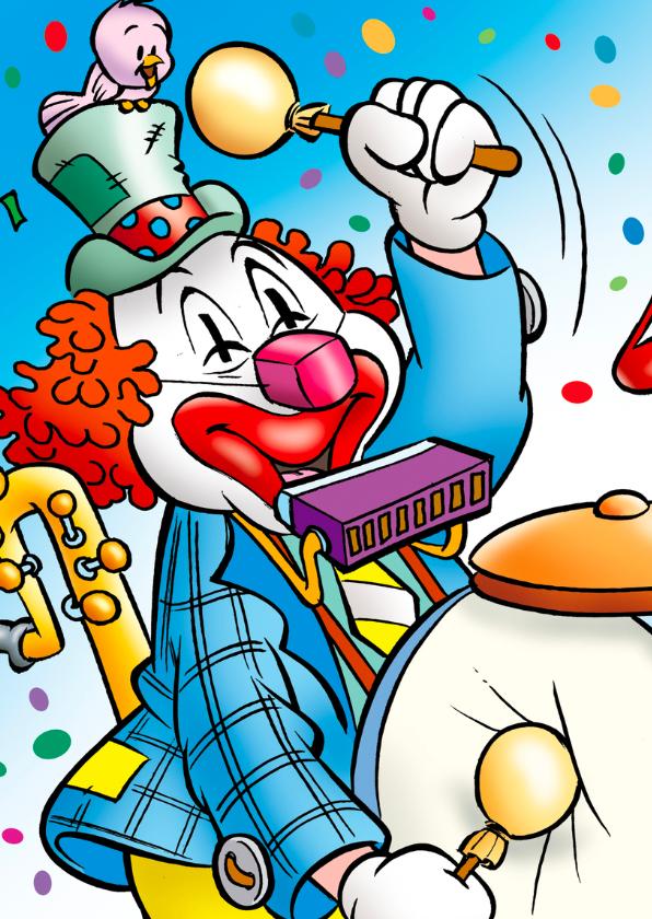 clowns verjaardag 2 clown met viool 2