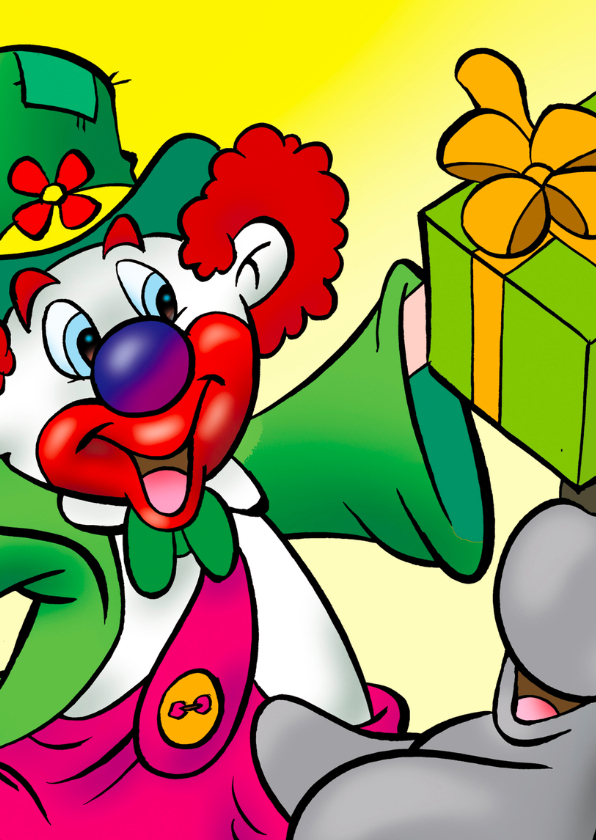 clowns verjaardag 8 clown met konijn 2