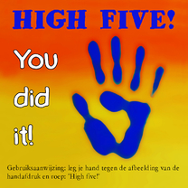 Coachingskaarten - Coaching, high five - AZ