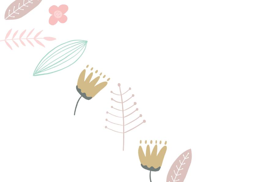 Coachingskaart You are awesome met bloemen 2