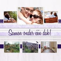 Samenwonen kaarten - Collage Samen onder één dak - BK