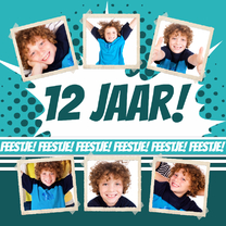 Kinderfeestjes - Collagekaart Verjaardag - BK