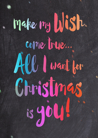 Kerstkaarten - Colorful chalk All I want - DH