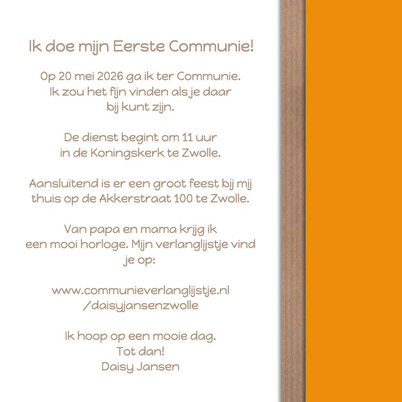 Communie 4 foto's oranje - DH 3
