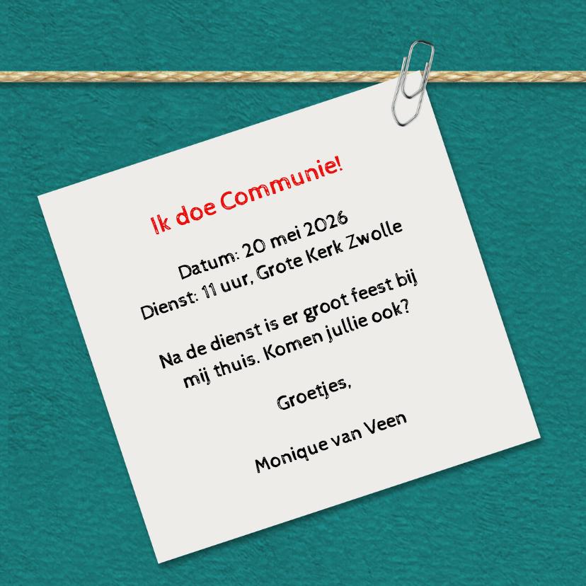 Communie anemoon foto's - DH 3