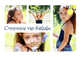 Communie collage 4 foto's - BK