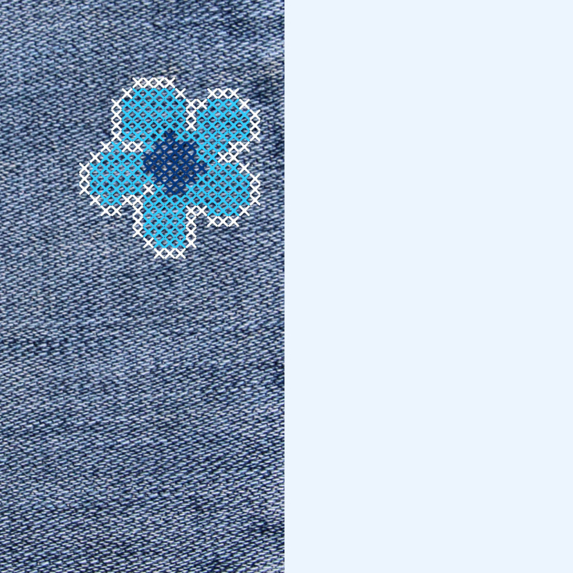 communie denim flower power 2