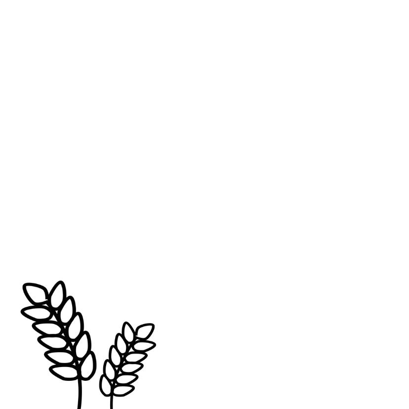 Communie doodle zwart wit - BK 2
