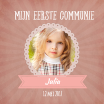 Communiekaarten - Communie kaart roze - SU