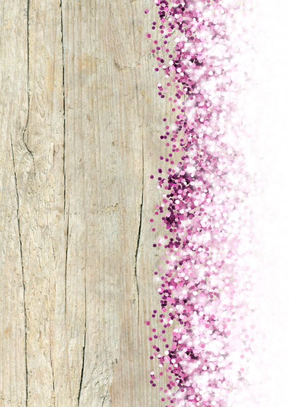 Communie lentefeest vormsel glitter eigen foto roze 2