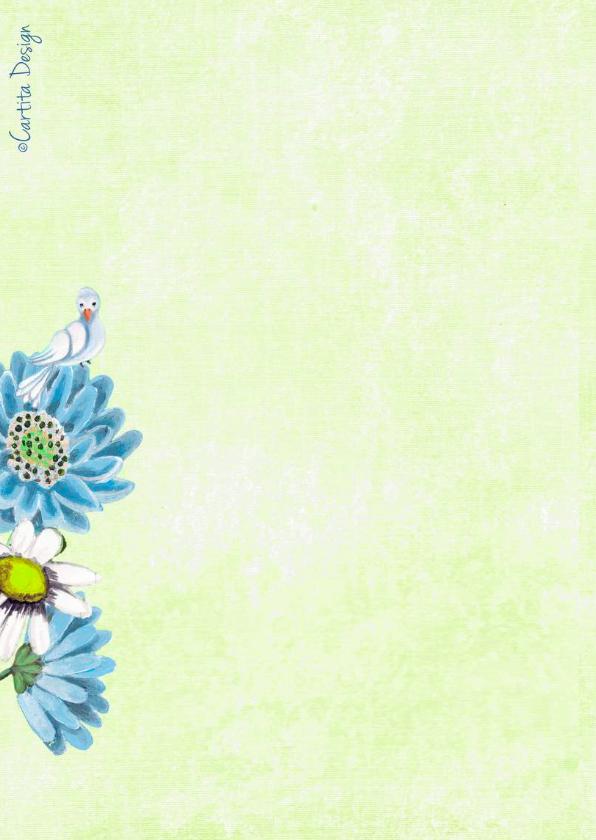 Communie Meisje Bloemen Duifjes 2