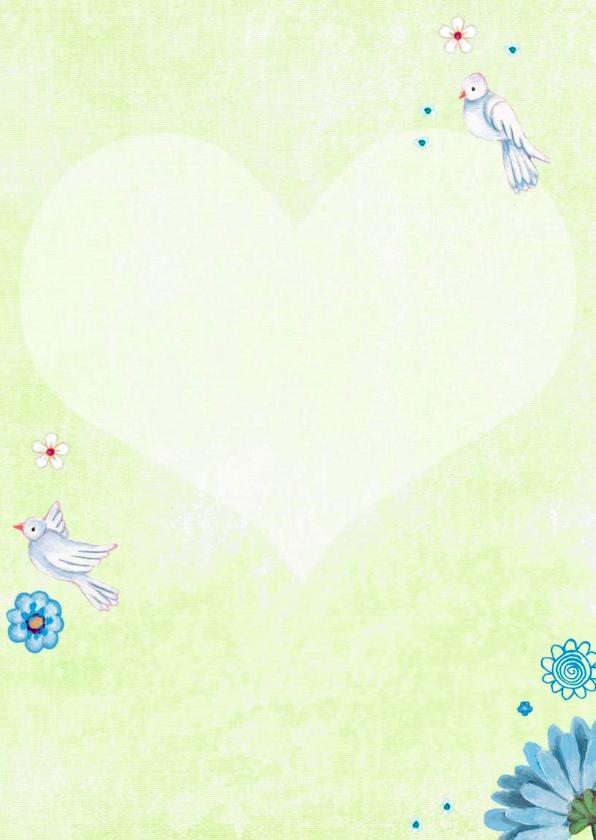 Communie Meisje Bloemen Duifjes 3