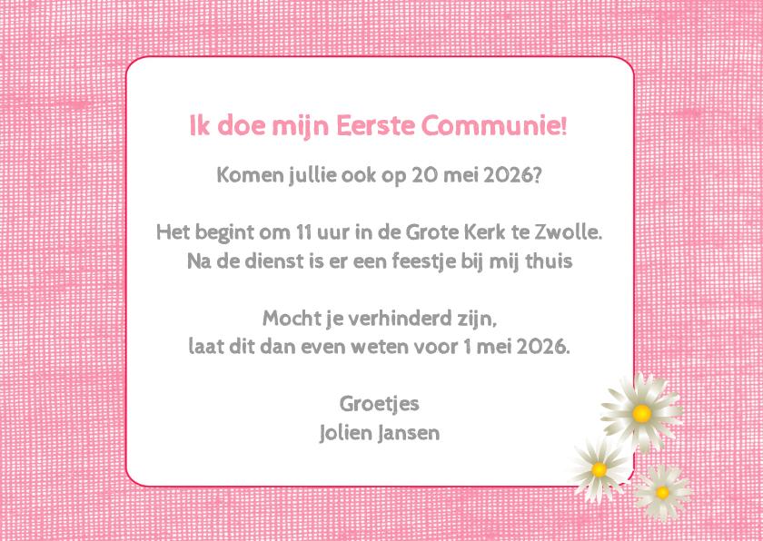 Communie roze bloemen - DH 3