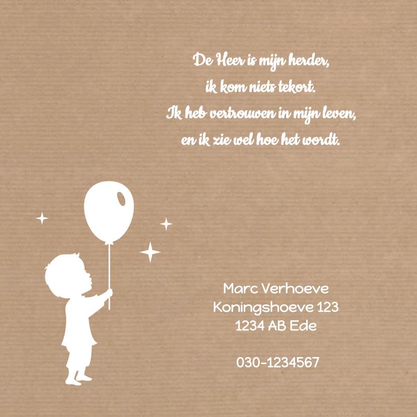 Communie Silhouet Jongen Kraft 2