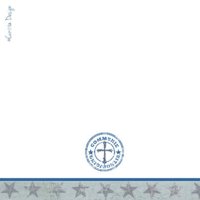 Communie Sterren Jongen Stempel Blauw 2
