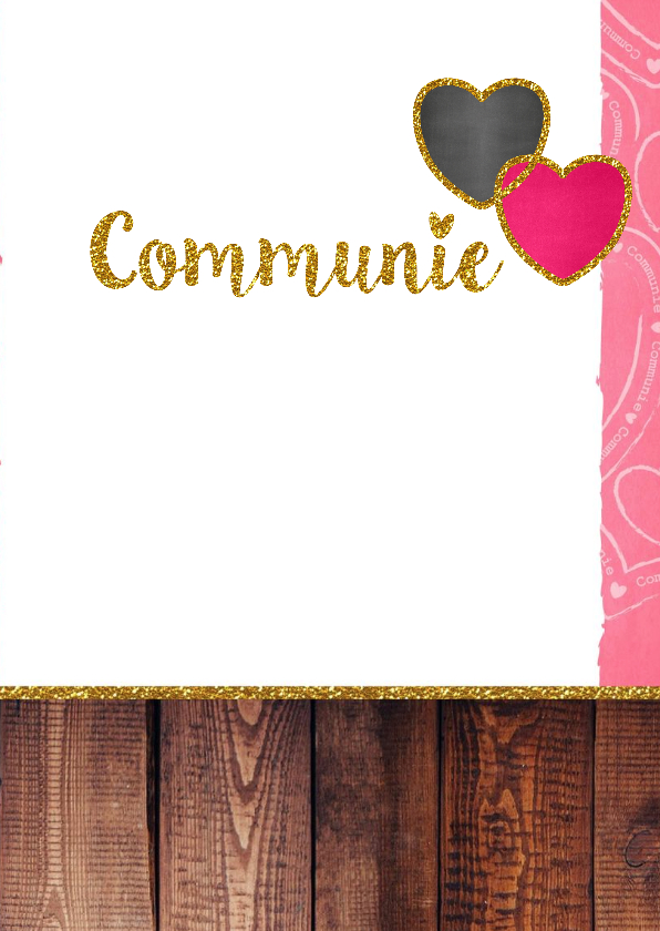 Communie stoer lief glitter S 3