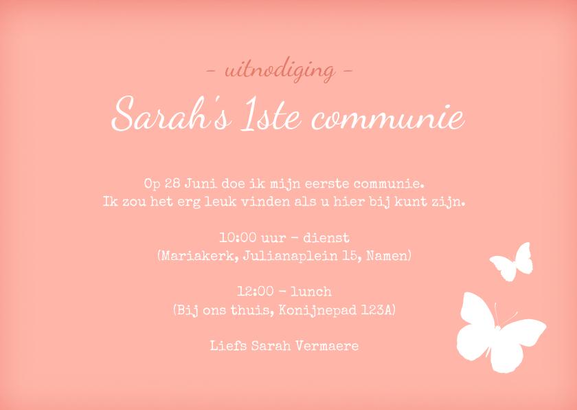 Communie uitnodiging Lief Kant 3