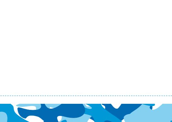 Communiekaart Camouflage blauw 3