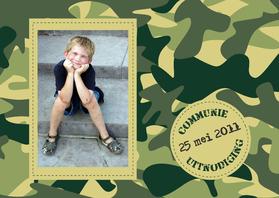 Communiekaarten - Communiekaart Camouflage leger
