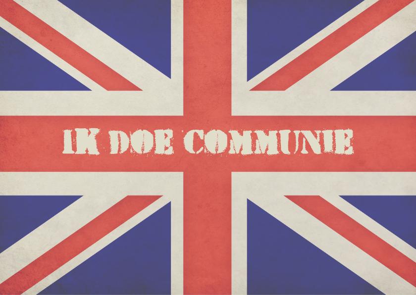 Communiekaart Engelse vlag - BK 2