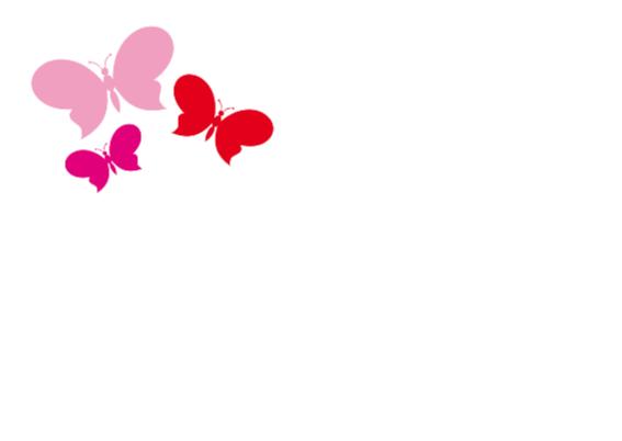 Communiekaart met vlinders 2