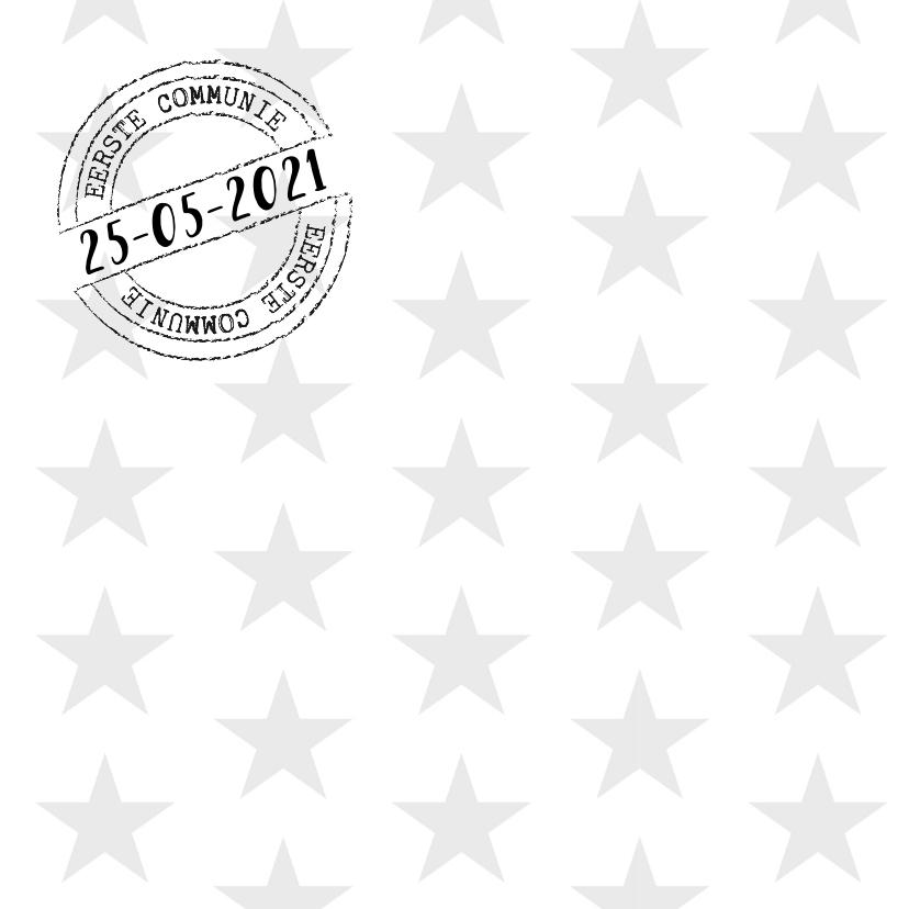 Communiekaart sterren foto zwartwit 2