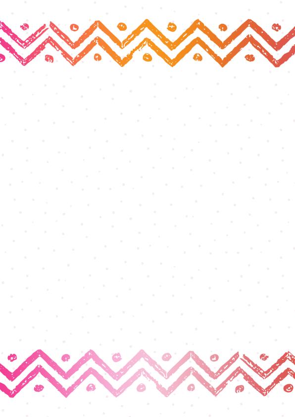 Communiekaart washi tape roze-oranje 2