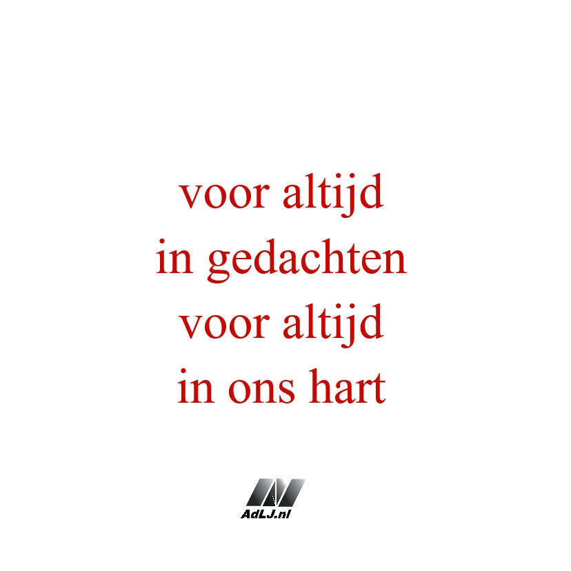 Condoleance Hart rood - AW 3
