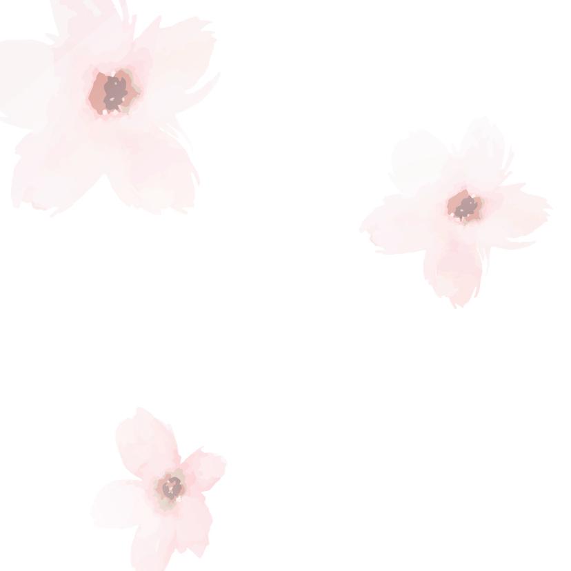 Condoleance - roze bloemen gedicht 2