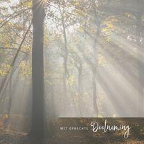 Condoleancekaarten - Condoleance zonneharp kleur