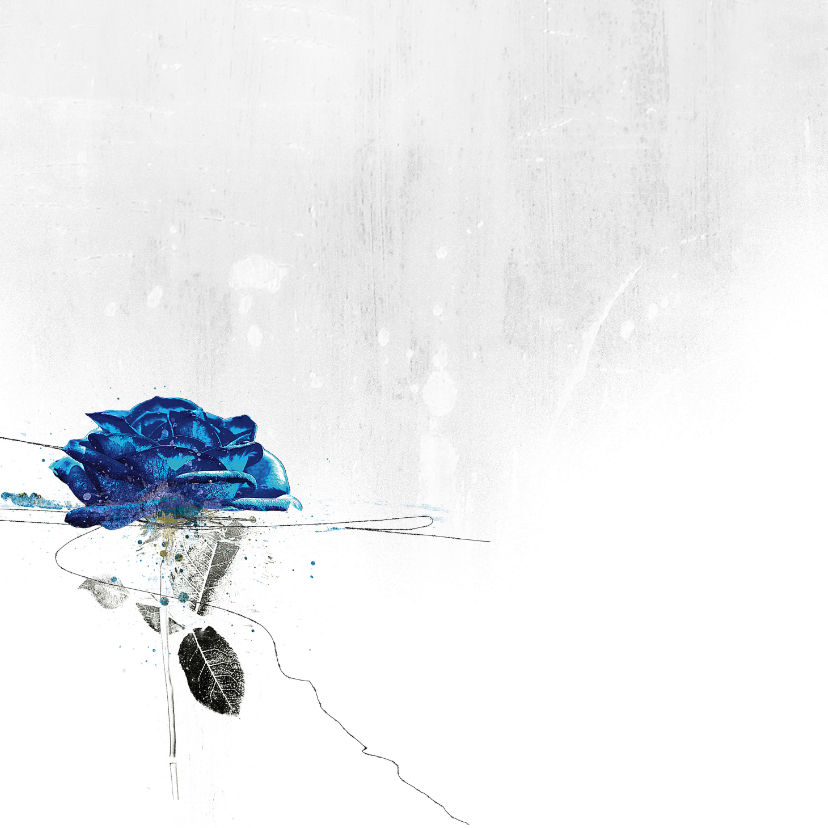 Condoleancekaart Blauwe Roos Sterkte 2