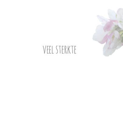 Condoleancekaart bloem sfeervol  3