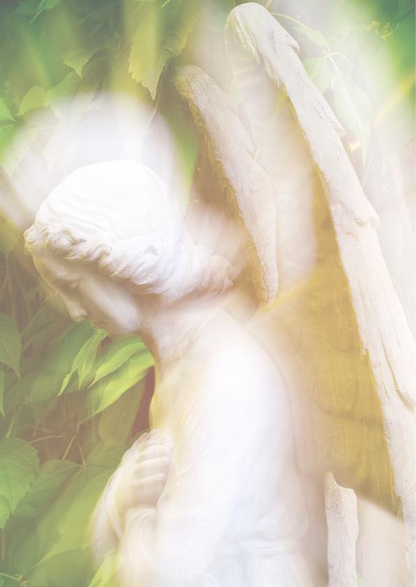 Condoleancekaart engel - innige deelneming 2