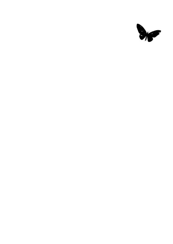Condoleancekaart geel zwart vlinder 2