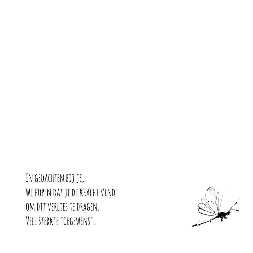 Condoleancekaart libelle 3