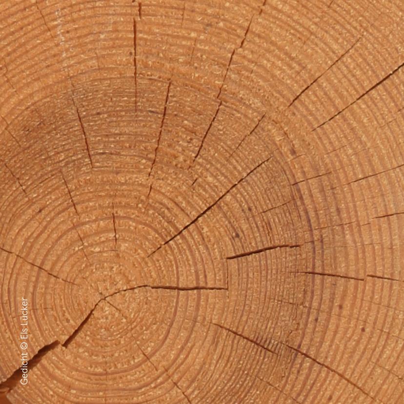 Condoleancekaart moeder met hout 2