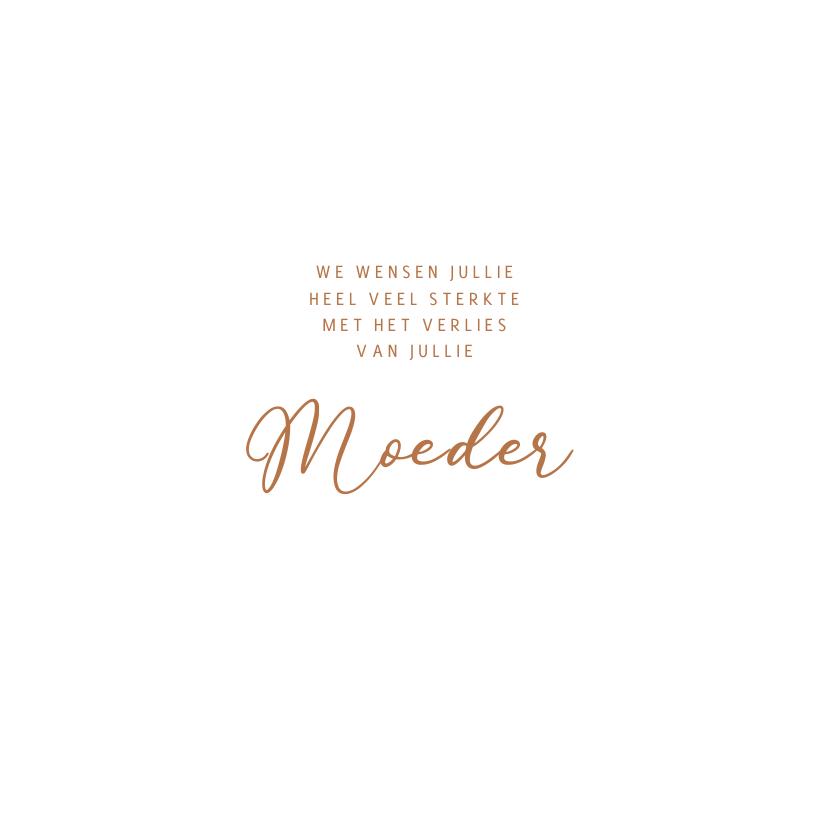 Condoleancekaart moeder met hout 3