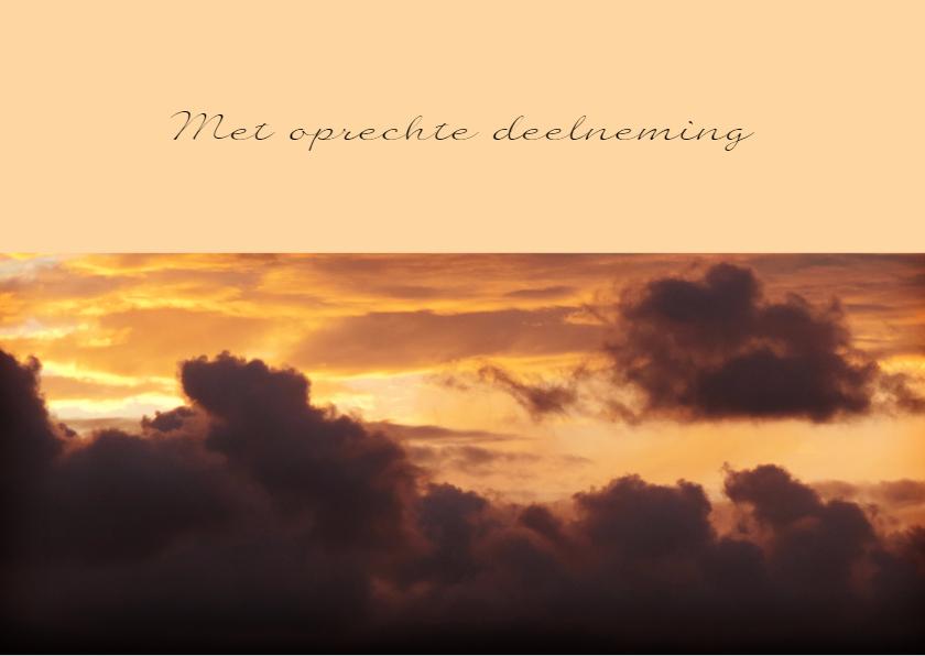 Condoleancekaart ondergaande zon met spreuk - SK 2