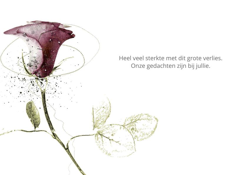Condoleancekaart Roos Bordeaux 3