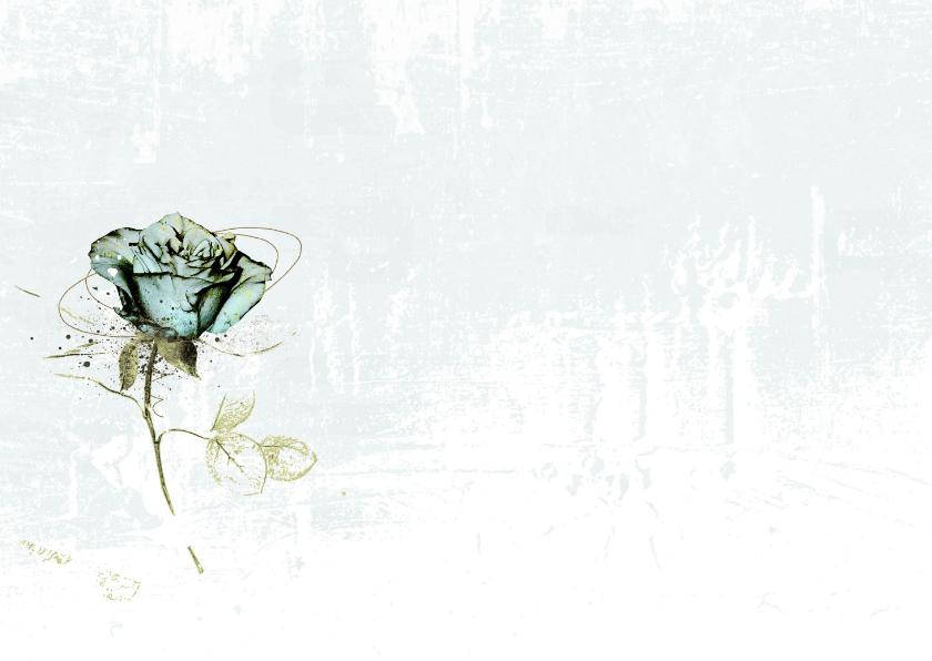 Condoleancekaart Roos Lichtblauw 2