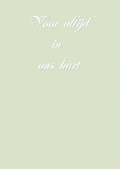 Condoleancekaart - Rozenhart 3