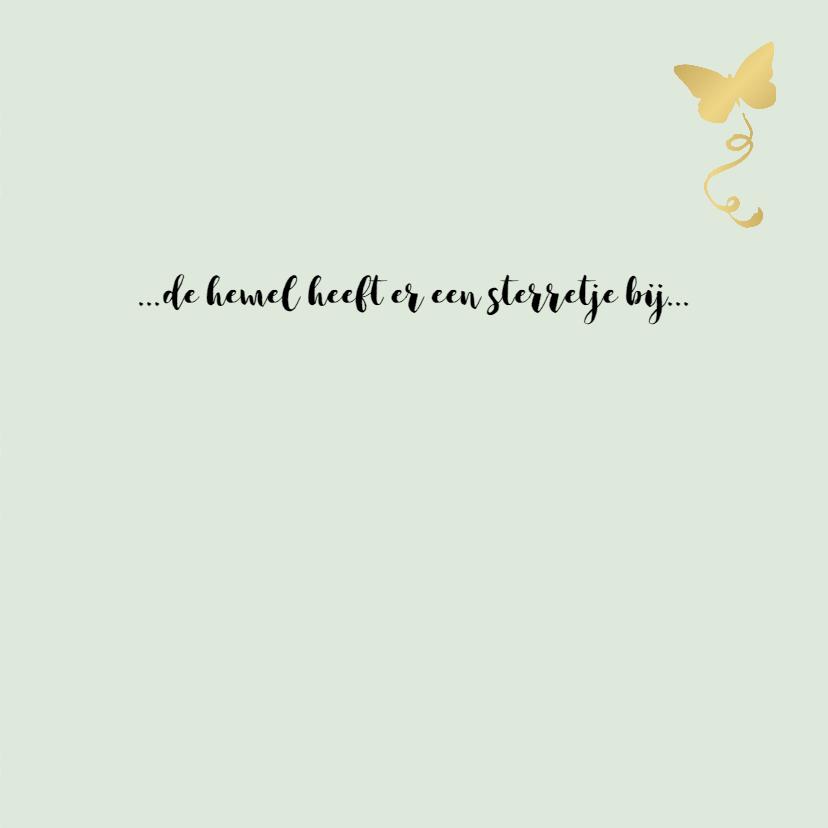 Condoleancekaart sterretjes en vlinder, aanpasbare kleur 3
