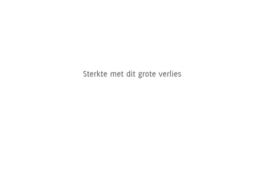 Condoleancekaart Wit Groene Roos Sterkte 3