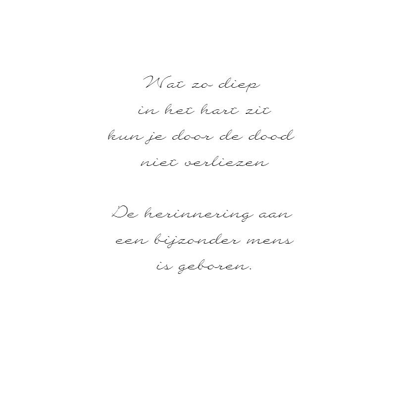 Condoleancekaart witte bloem dauwdruppels - SK 3
