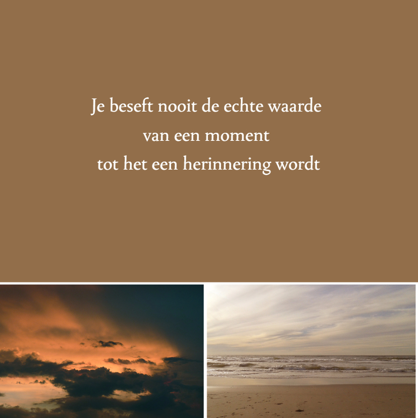 Condoleancekaart zee en wolken - SK 2