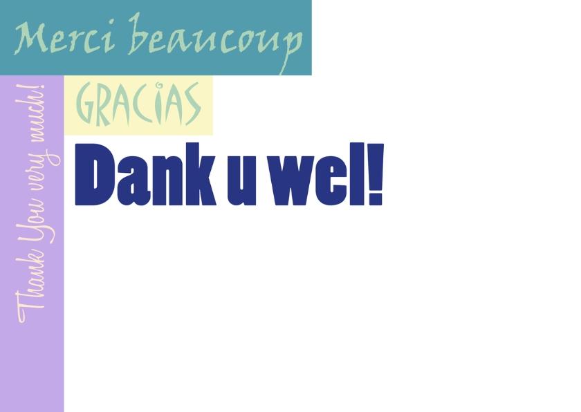 Dank u wel meertalig 2