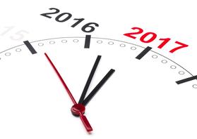 Nieuwjaarskaarten - De klok telt af naar 2017